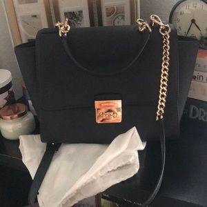Michael Kors Brandi Top Handel Leather Satchel